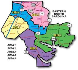 area map eastern carolina