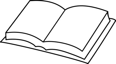 Blank Book Coloring Page Free Clip Art Open Book Coloring Page