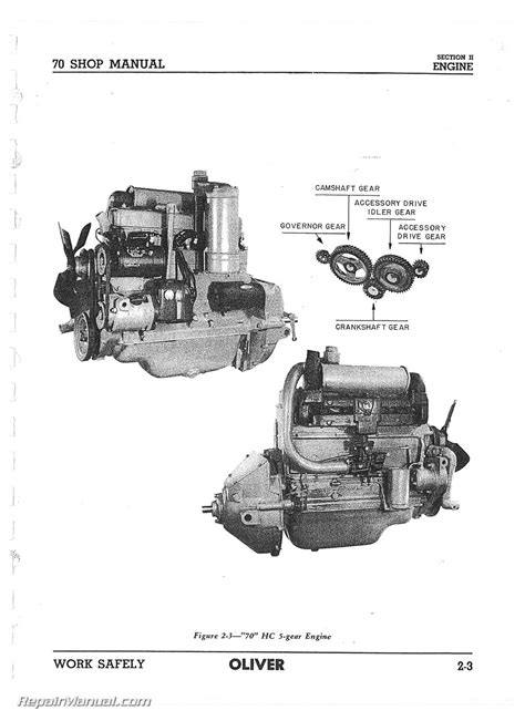 Oliver 70 Row Crop Tractor Service Manual