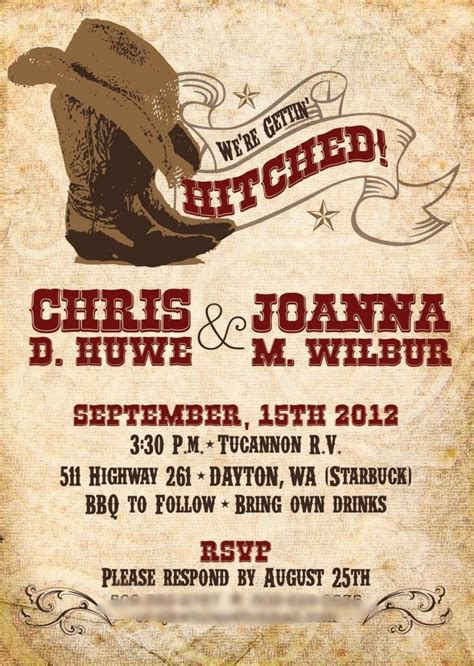 wedding invitations western 78 best images about western on birthday invitations and