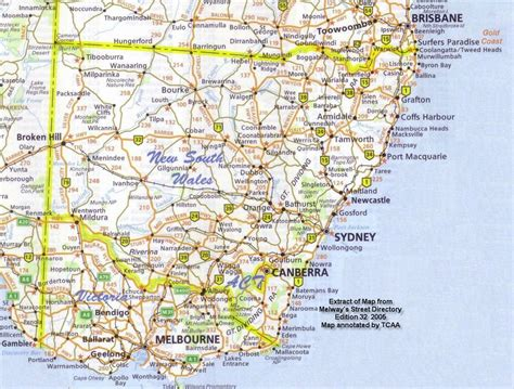 map of nsw australia image gallery nsw map