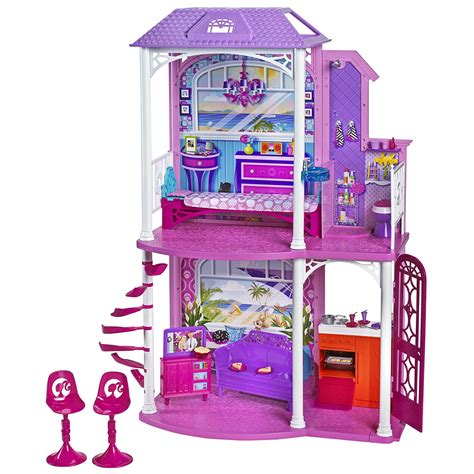 doll houses that fit barbies mattel barbie doll dream house 2 story vacation home
