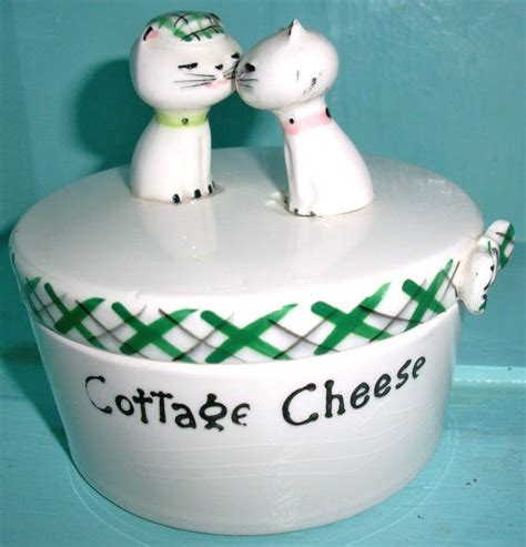 Cottage Cheese For Cats by Vintage Holt Howard Cozy Kitten Ceramic Cottage Cheese Covered