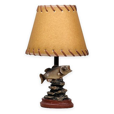 fishing themed l shades bass fish theme accent l with oiled paper shade bed