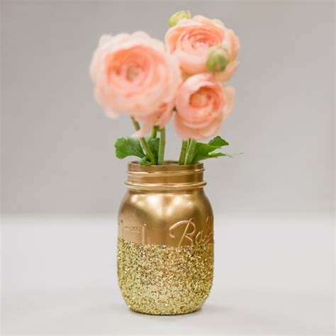 diy glitter mason jar centerpieces