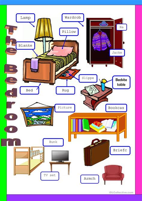bedroom english vocabulary the bedroom worksheet free esl printable worksheets made