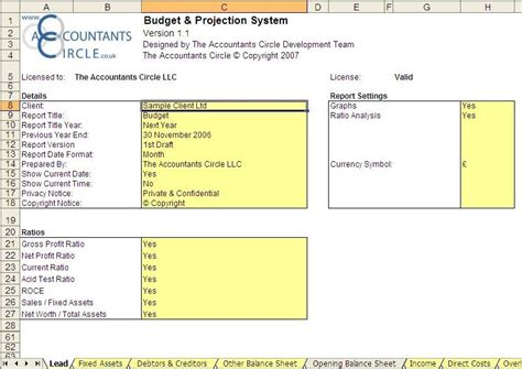 projection template budget projection system excel templates for