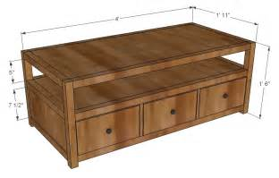 coffee table dimensions ana white rhyan coffee table diy projects