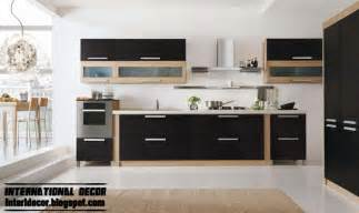 Design Of Kitchen Furniture Modern Black Kitchen Designs Ideas Furniture Cabinets