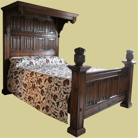 half tester bed half tester bed in solid oak handmade carved bed in