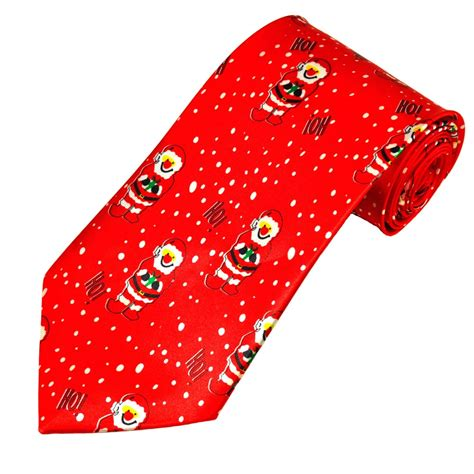 santa claus red novelty christmas tie from ties planet uk