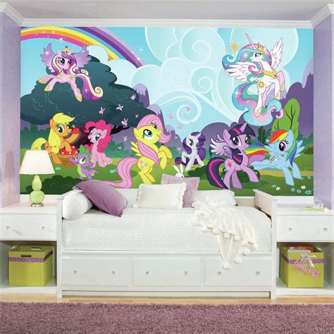my little pony bedroom wallpaper roommates 72 in x 126 in my little pony ponyville xl
