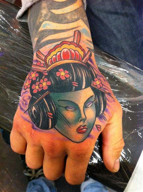 tattoo geisha head off the map tattoo tattoos color geisha head