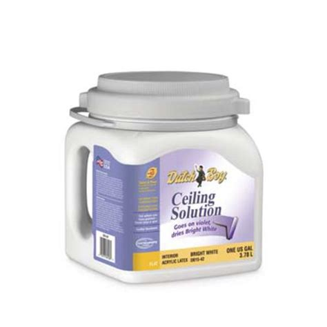 boy 174 ceiling solution bright white flat interior acrylic paint 1 gal at menards 174