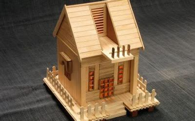 cara membuat rumah dari kardus dan stik es krim cara membuat miniatur rumah dari stik es krim bekas pakai