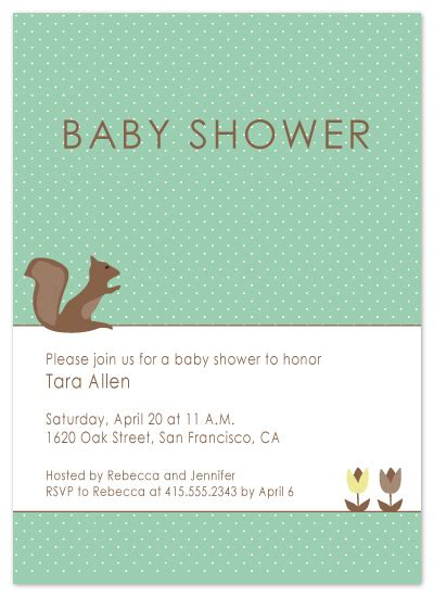 Minted Baby Shower Invitations by Baby Shower Invitations Retro Squirrel At Minted