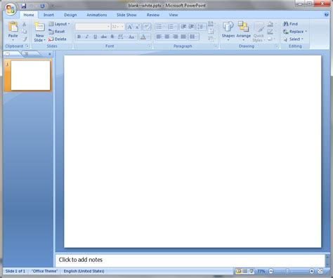 powerpoint blank template simple pptx import tests