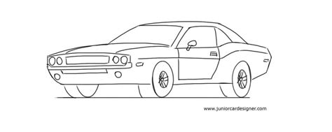 very simple coloring page for boys with car how to draw a muscle car junior car designer