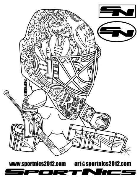 Download Coloring Pages Hockey Coloring Pages Hockey Hockey Coloring Pages Nhl