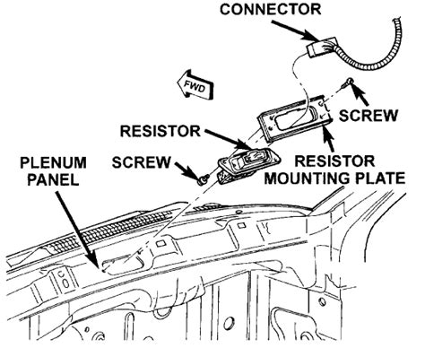 blower motor resistor location dodge dakota how do i get at and replace blower resistor on 1997 dodge dakota 6cyl 3 9l