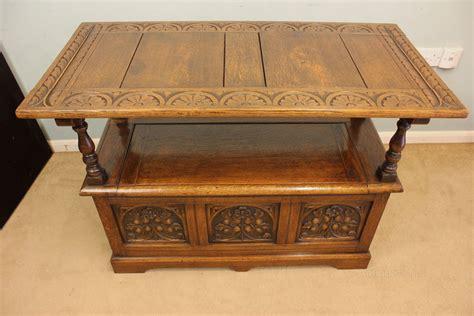 oak monks bench seat carved oak monks bench hall seat box settle antiques atlas