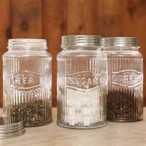 Vintage Glass Canisters Kitchen kitchen storage organization food containers storage kitchen canisters