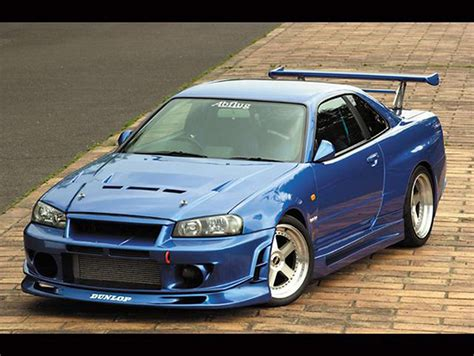 fast and furious nissan skyline nissan skyline gtr r34 fast and furious 1 mobmasker