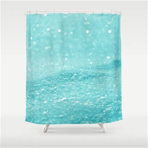 Blue Glitter Curtains Glitter Turquoise Shower Curtain Turquoise Blue And Products