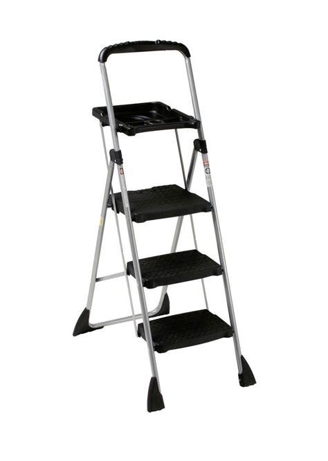 Worlds Greatest Work Platform 3 Step Step Stool by Cosco Worlds Greatest 3 Step Folding Step Stool Black