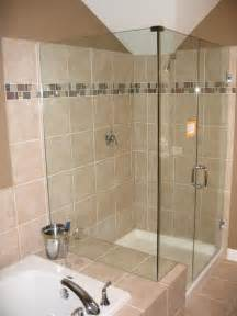 Glass Tile For Bathrooms Ideas by Bathroom Design With Bathtub And Shower Home Decorating