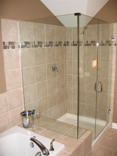 glass tile for bathrooms ideas bathroom design with bathtub and shower home decorating