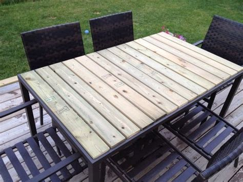Diy Patio Patio Tables And Fence On Pinterest Diy Patio Table Top