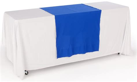 blue table runner unprinted 30 quot plain