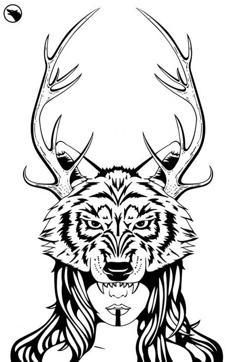 printable wolf mask black and white wolf mask black white printables etc pinterest