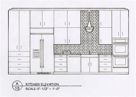 kitchen plan section elevation best 25 elevation drawing ideas on pinterest section