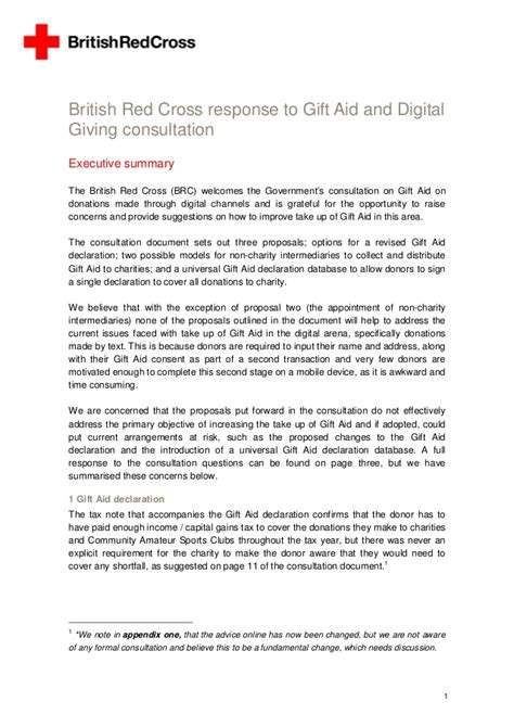 Gift Aid Letter cross gift aid and digital our response to the