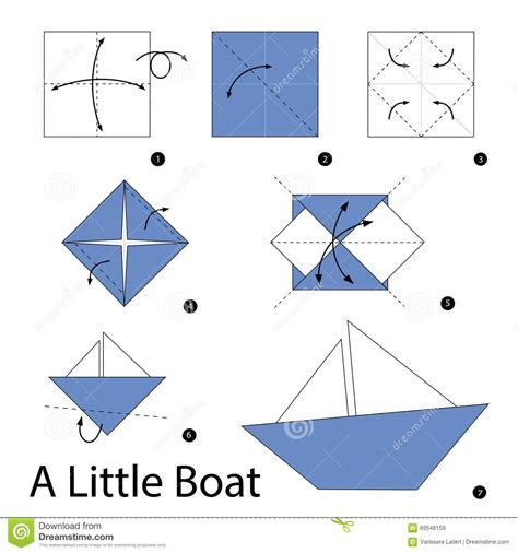 How To Fold Origami Boat - origami origami how to make a paper boat steps with