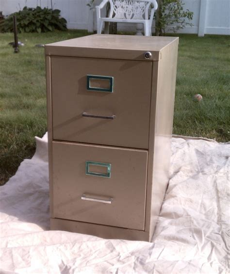 paint metal filing cabinet home organization