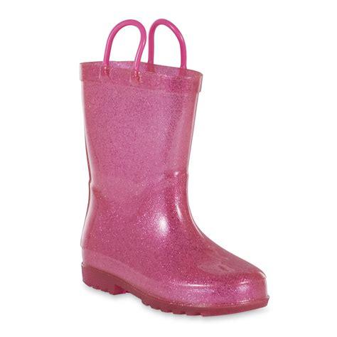 kids light up rain boots intrigue girls lara light up rain pink boot shoes