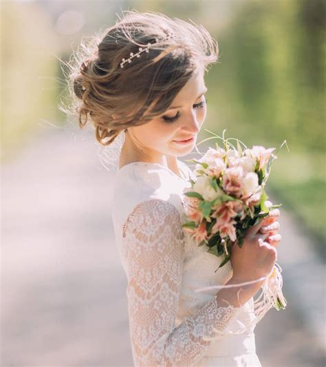bun hairstyles   wedding day