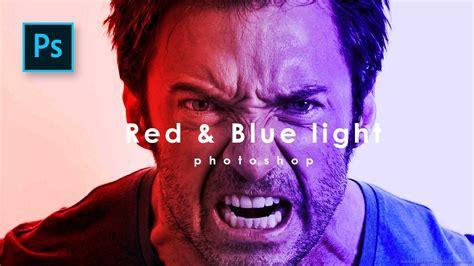 tutorial photoshop effect indonesia membuat efek cahaya di photoshop red blue light effect