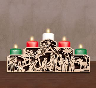 plans  build christmas nativity scroll  patterns