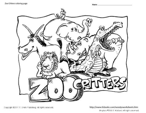 free coloring page zoo free coloring pages of preschool zoo animals