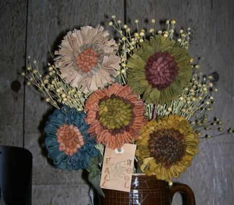 Wool Rug Hooking Patterns by Primitive Rug Hooking Wool Flowers Pattern Faap