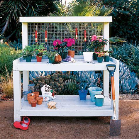 potting bench b q backyard potting bench sunset