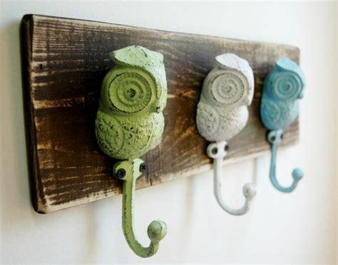owl hooks wall decor summer home decor by