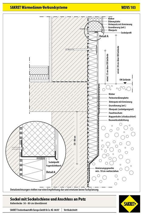Sockel Spritzwasserschutz by Echter H 228 Rtefall Der Sockel Wdvs Fassaden Sakret