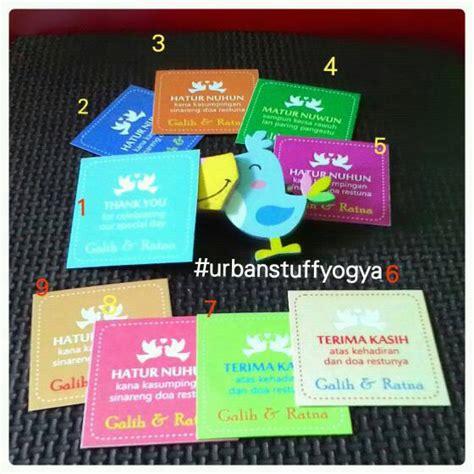 Kartu Ucapan Gift Card 1pcs jual kartu souvenir ucapan terima kasih uk pernikahan thank you card stuff