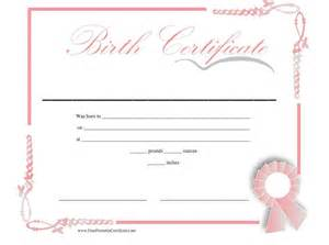 printable birth certificate templates 15 birth certificate templates word pdf template lab