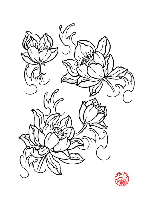 japanese flower drawing lotus flower drawings for tattoos